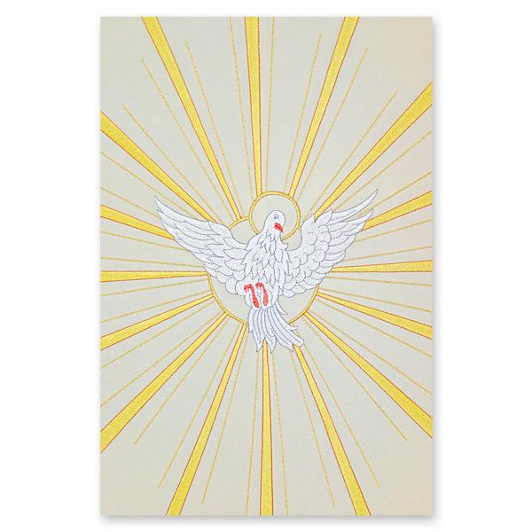 Cielo di Baldacchino con Spirito Santo ricamato da Venturini Arredi Sacri