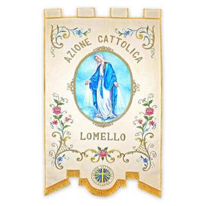 Stendardo Processionale Azione Cattolica ricamato da Venturini Arredi Sacri
