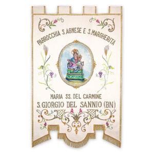 Stendardo Processionale Madonna del Carmine ricamato da Venturini Arredi Sacri